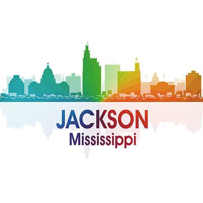 Mixed Media - Jackson Ms 1 Squared by Angelina Vick