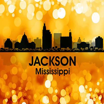 Mixed Media - Jackson Ms 3 Squared by Angelina Vick
