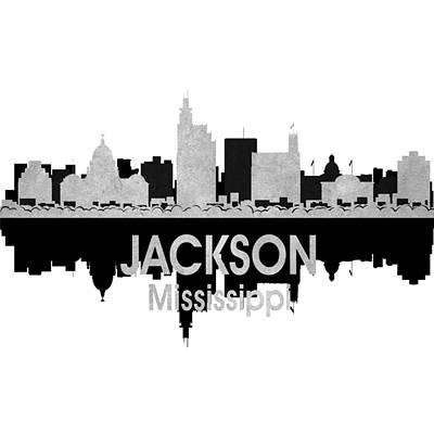 Skyscraper Mixed Media - Jackson Ms 4 Squared by Angelina Vick