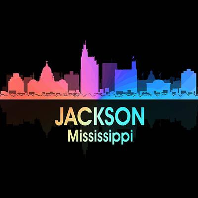 Mixed Media - Jackson Ms 5 Squared by Angelina Vick
