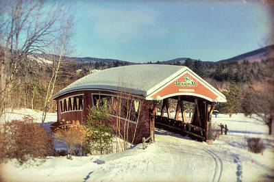 Photograph - Jackson Nh Covered Bridge by Joann Vitali