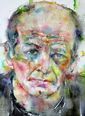 Painting - Jackson Pollock - Watercolor Portrait.3 by Fabrizio Cassetta