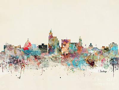 Painting - Jackson Skyline by Bleu Bri