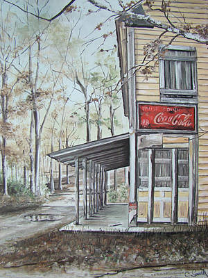 Drug Stores Painting - Jackson Springs by Charles Roy Smith