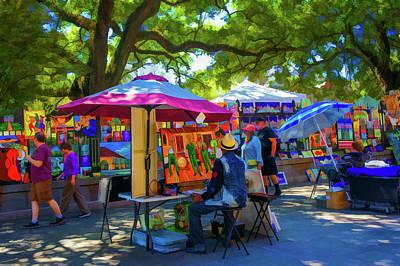 Jackson Square Painting - Jackson Square Art In New Orleans, La  by Art Spectrum