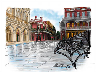 French Quarter Painting - Jackson Square At Muriel's by Charles Harrison