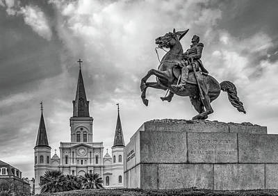 Photograph -  Jackson Square Bw by Steve Harrington