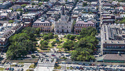 Photograph - Jackson Square By Helicopter by Gregory Daley  MPSA