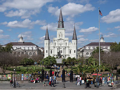 National Park Photograph - Jackson Square In New Orleans by Louise Heusinkveld