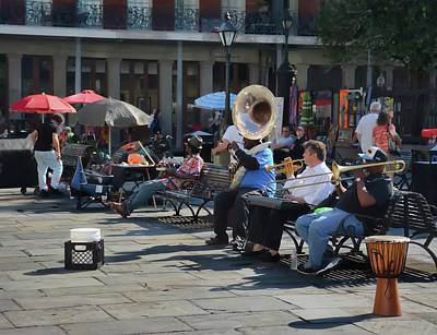 Photograph - Jackson Square Musicians - New Orleans by Greg Jackson