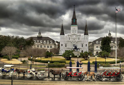 French Quarter Photograph - Jackson Square New Orleans by Don Lovett