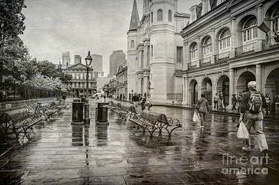 Photograph - Jackson Square Rainy Day 2 Nola by Kathleen K Parker