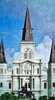 Photograph - Jackson Square St. Louis Cathedral  by Paul Wilford