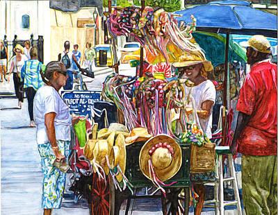 Jackson Square Painting - Jackson Square Vendor by John Boles