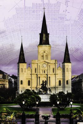 Photograph - Jackson Square With Map by Chris Coffee