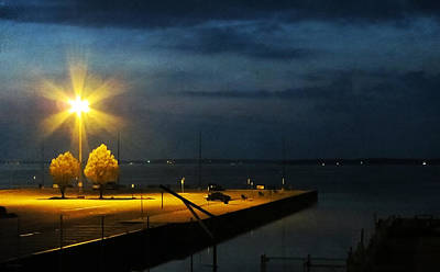 Photograph - Jackson Street Pier At Night by Shawna Rowe
