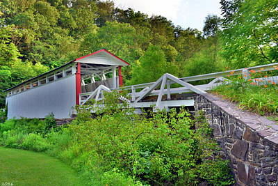 Photograph - Jackson's Mills Covered Bridge 2 by Lisa Wooten