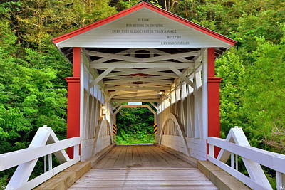 Jackson's Mills Covered Bridge Art Print by Lisa Wooten