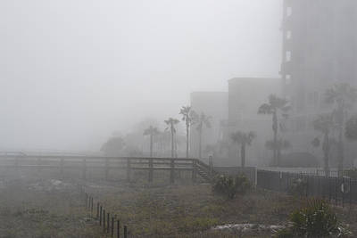 Photograph - Jacksonville Beach Fogged In by rd Erickson