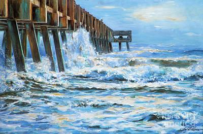 Painting - Jacksonville Beach Pier by Linda Olsen