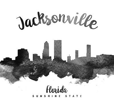 Jacksonville Florida Skyline 18 Art Print by Aged Pixel