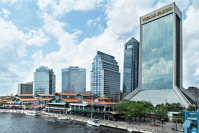 Photograph - Jacksonville, Florida Skyline by Kay Brewer