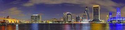 Photograph - Jacksonville Florida Skyline - Panoramic - City by Jason Politte