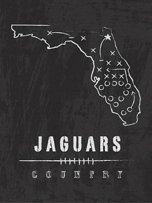 Jacksonville Jaguars Art - Nfl Football Wall Print Art Print by Damon Gray
