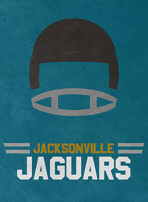 Mixed Media - Jacksonville Jaguars Vintage Art by Joe Hamilton