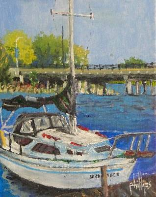 Painting - Jacksonville Marina by Jim Phillips