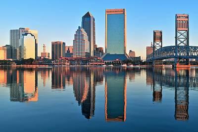 Jacksonville Mirror Image Art Print