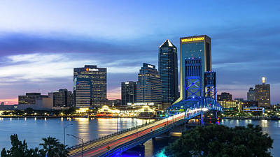 Photograph - Jacksonville Nights by Ryan Heffron