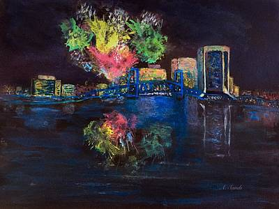 Painting - Jacksonville On The Fourth by Anne Sands