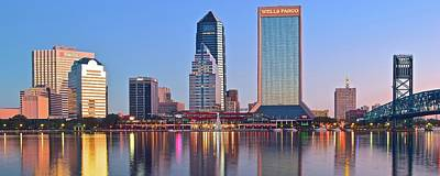 Photograph - Jacksonville Pano At Dawn by Frozen in Time Fine Art Photography