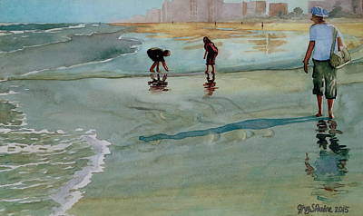 Painting - Jacksonville Shell Hunt by Jeffrey S Perrine