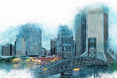 Photograph - Jacksonville Sketch by Kay Brewer