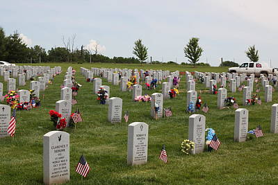 Photograph - Jacksonville Veterans Cemetery by Anthony Cornett
