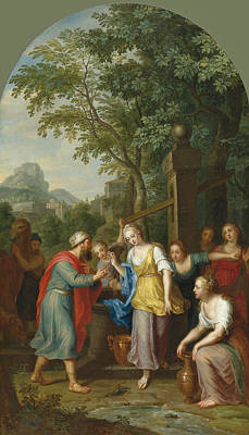 Rachel Painting - Jacob And Rachel At The Well by Balthasar Beschey