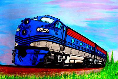 Painting - Jacob The Train by Pj Artman