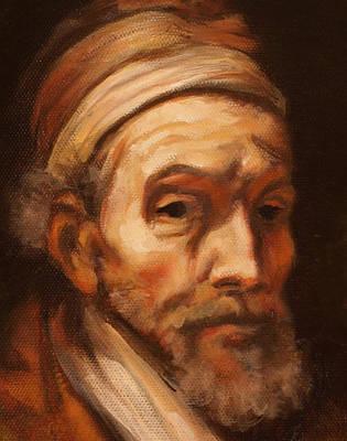 Jacob Trip After Rembrandt Closeup Of Face Art Print