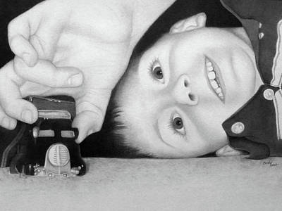 Drawing - Jacob With His Truck by Becky West