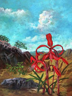 Painting - Jacobean Lily Of Mexico by Randy Burns