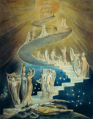 William Blake Painting - Jacob's Dream  by William Blake