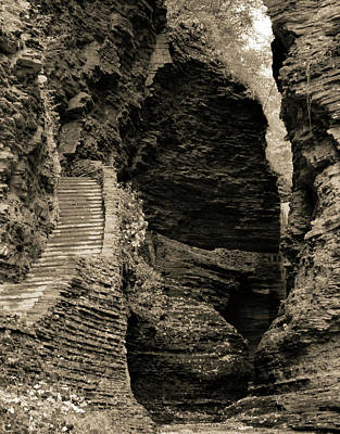 Photograph - Jacob's Ladder Watkins Glen State Park by Dan Sproul