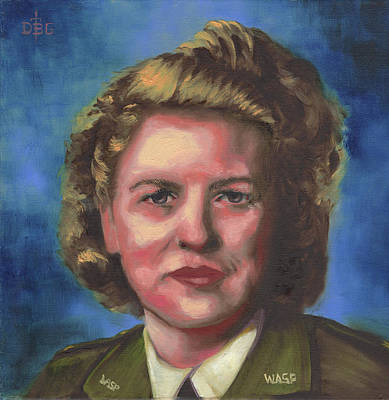 Painting - Jacqueline Cochran by David Bader