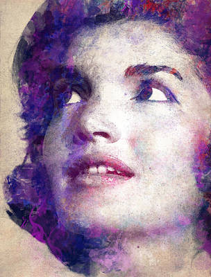 First Lady Digital Art - Jacqueline Kennedy Onassis by Angela Boyko