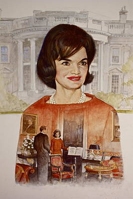 Painting - Jacqueline Kennedy Onassis  by Cliff Spohn