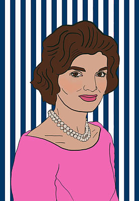 Icon Mixed Media - Jacqueline Kennedy Onassis by Nicole Wilson