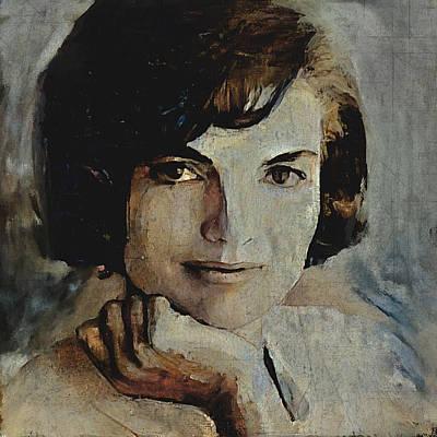 President Kennedy Digital Art - Jacqueline Kennedy Portrait 1  by Yury Malkov