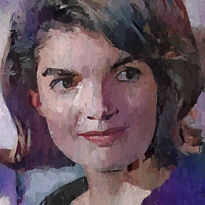 President Kennedy Digital Art - Jacqueline Kennedy Portrait 3 by Yury Malkov